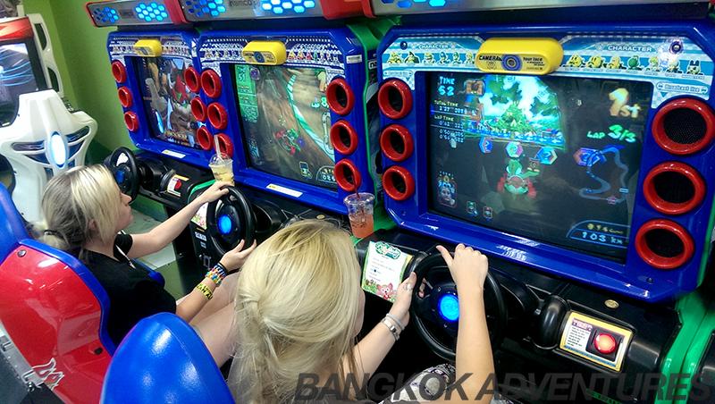 Mario Kart arcade game in Gateway Mall Ekkamai