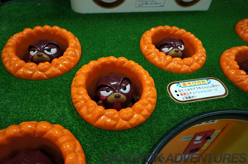 Whack a mole at the Ekkamai arcade
