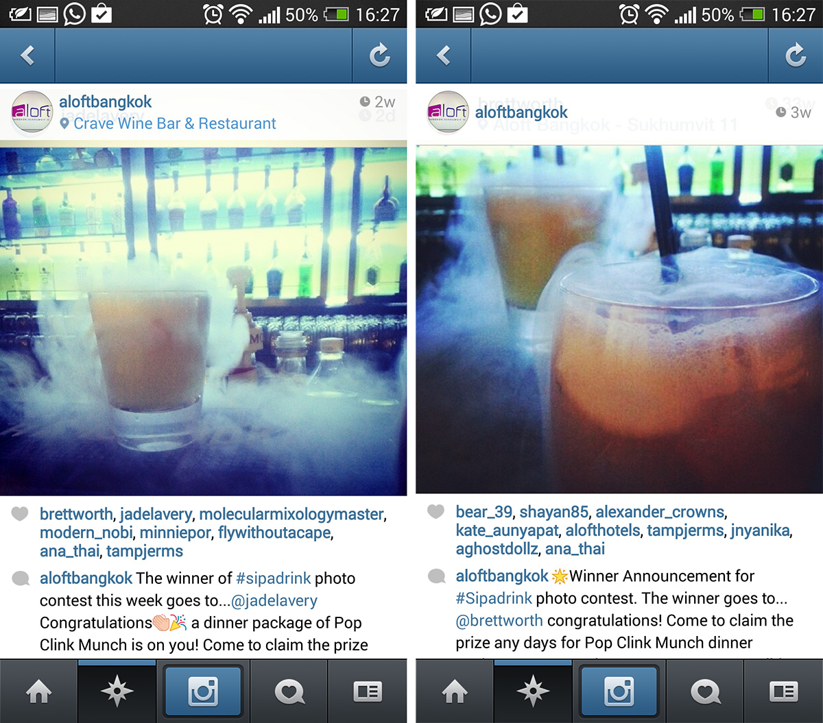 Crave Competition Winning Instagram Pictures