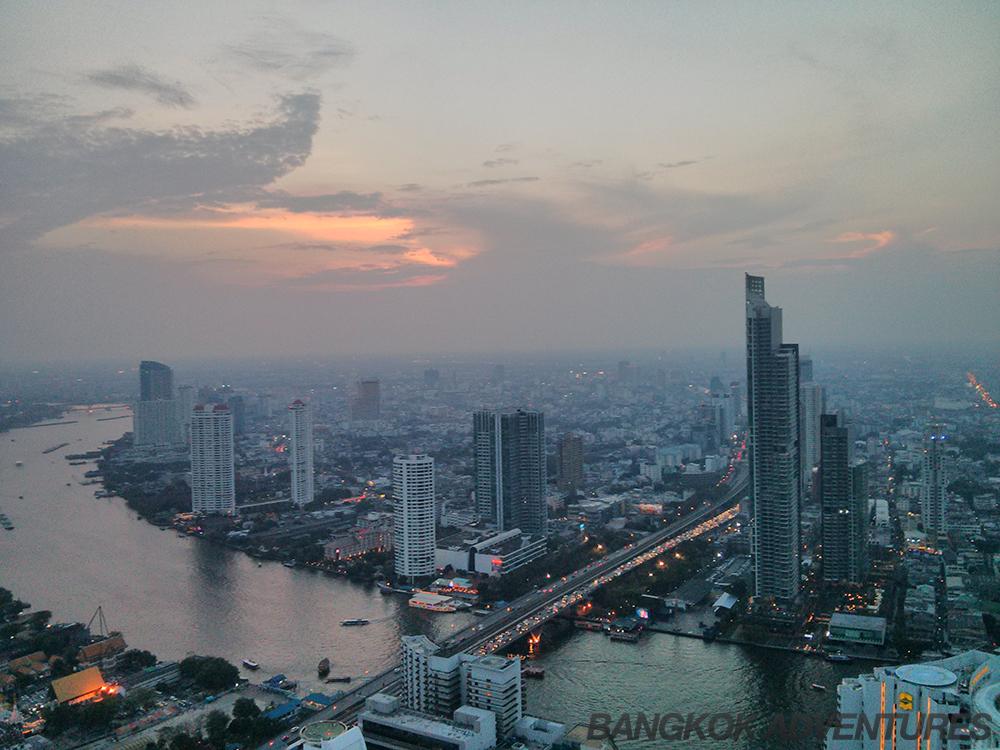 Lebua sky bar view over Bangkok