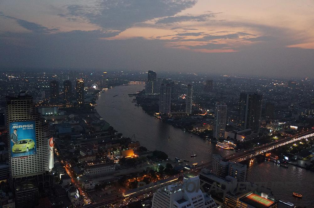 View from the Lebua sky bar in Bangkok
