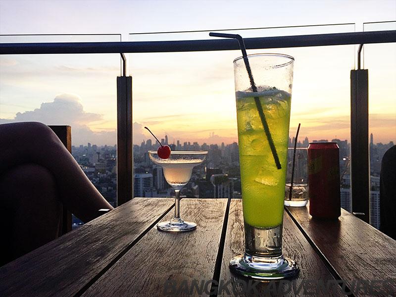 Cocktails at teh Cielo Sky Bar, Phra Khanong, Bangkok