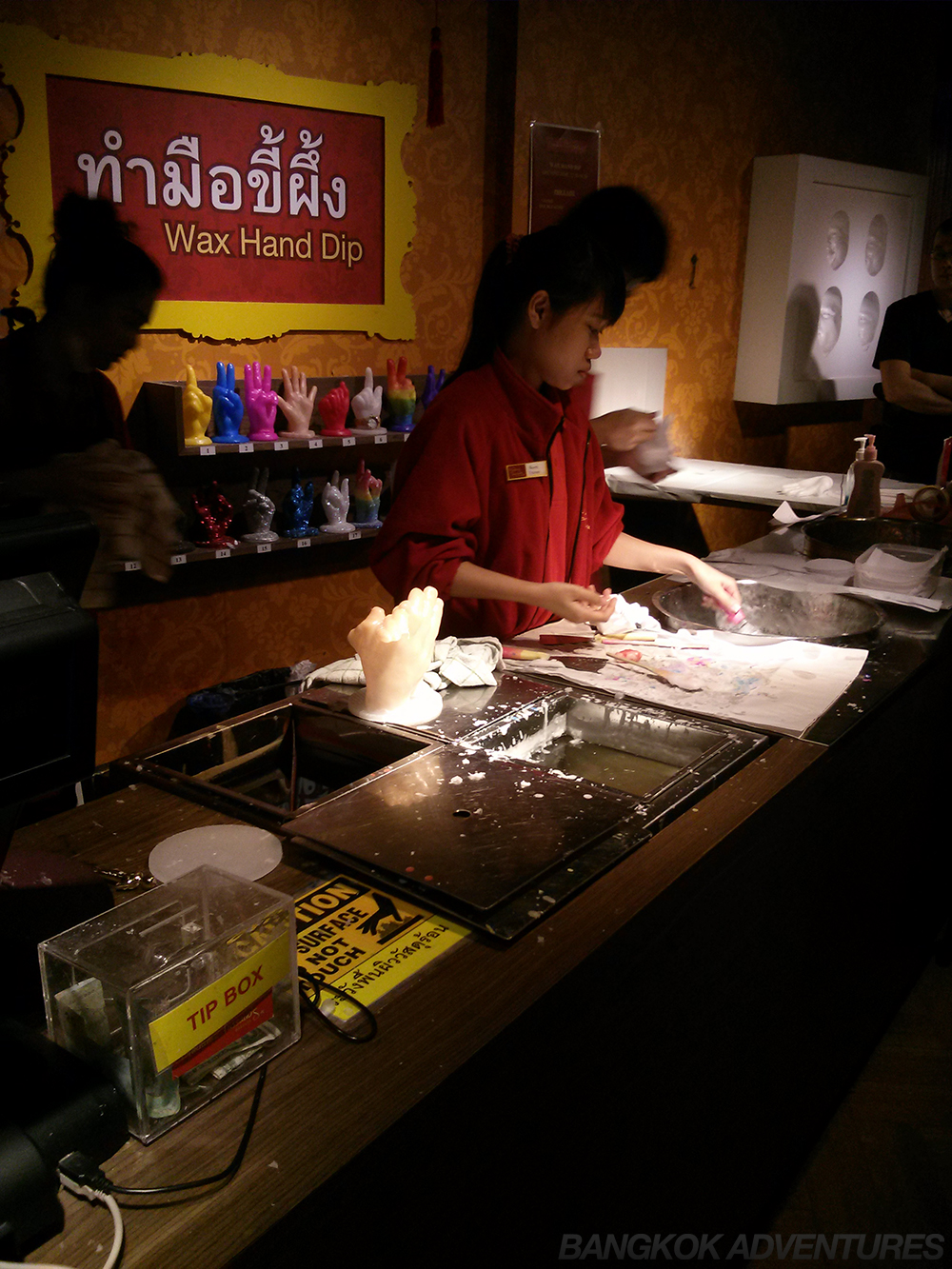 Get your hand made out of wax