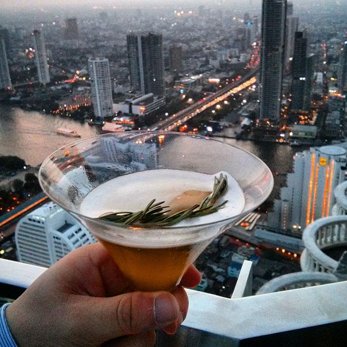 The Hangover-tini at Lebua sky bar, Bangkok