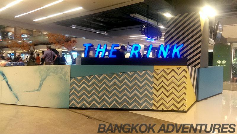 The Rink, indoor ice skating at Central World in Bangkok