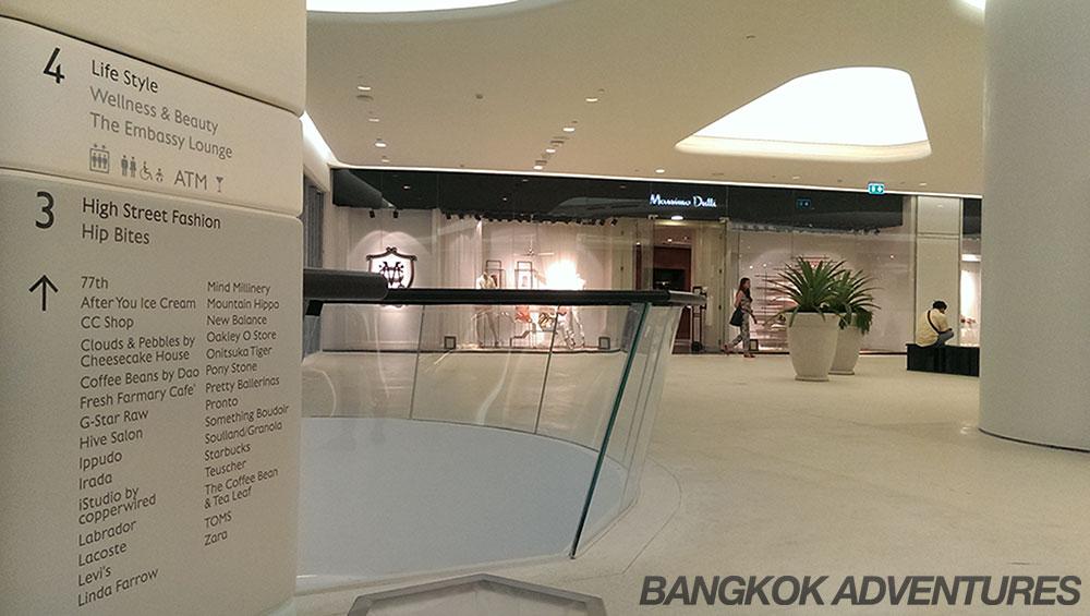 Store list at Central Embassy Mall Bangkok