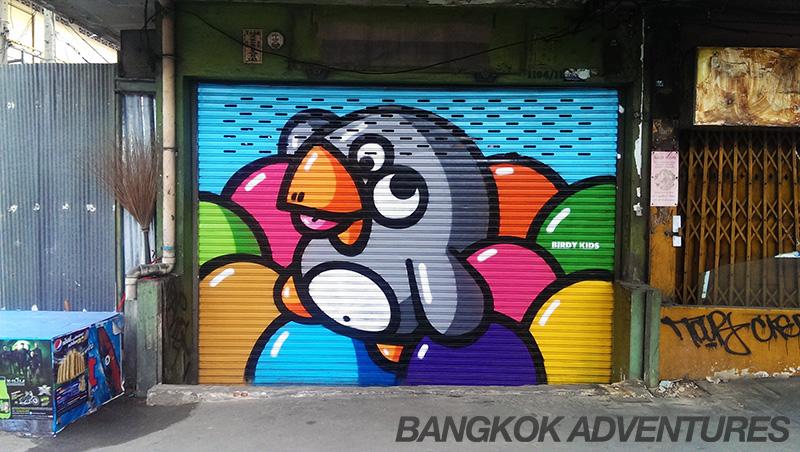 Birdy Kids street art Bangkok