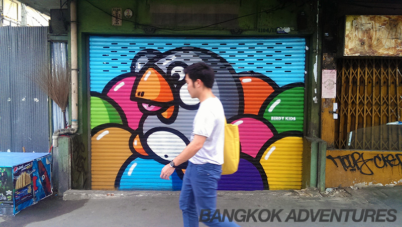 Birdy Kids street art in Phra Khanong, Bangkok