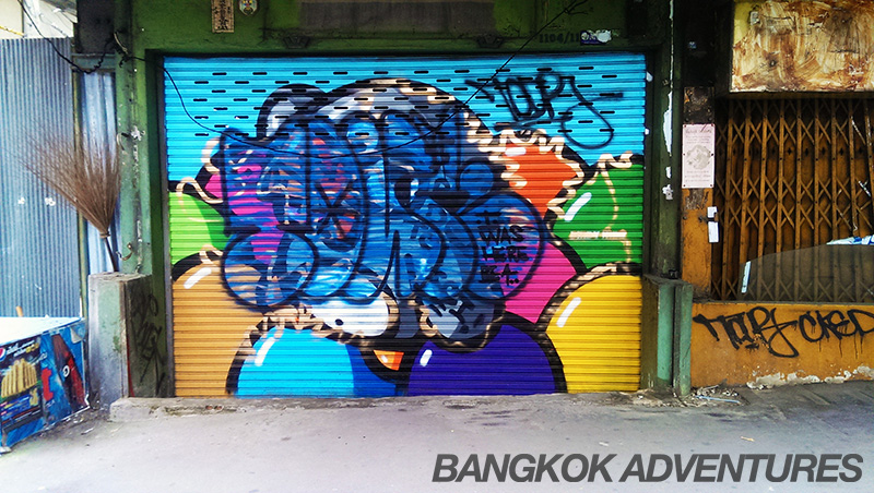 BIrdy Kids graffiti in Bangkok covered up by jealous rival.