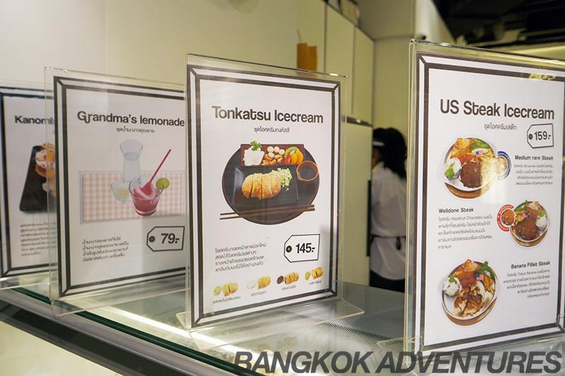 Icedea menu, Bangkok