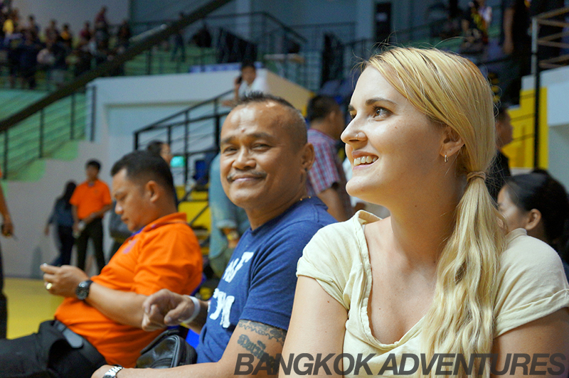 Sitting with former Muay Thai champions