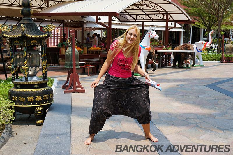 Pants to rent at Erawan Museum