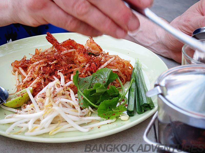 Pad Thai at W District Market in Bangkok