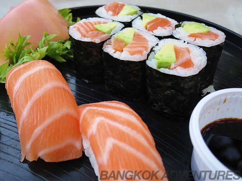 W District Market sushi.