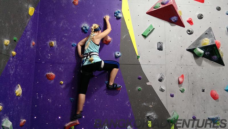 Bouldering at Rock Domain Climbing Gym, Bangkok
