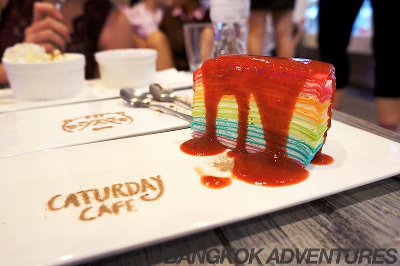 Cake at Caturday Cat Café in Bangkok