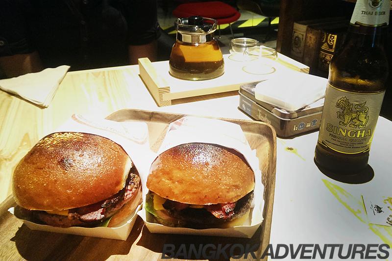 Daniel Thaiger burgers at the Game Over Lounge, Bangkok