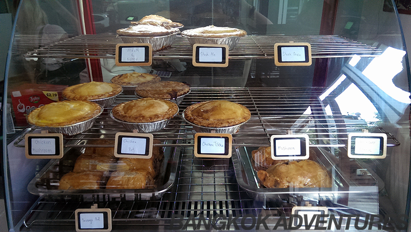 Selection of pies at London Pie Bangkok - Serious about pies