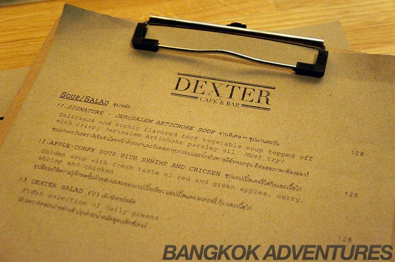 Dexter Cafe & Bar Menu